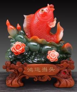 cá chép ngậm ngọc phong thủy phát lộc 3
