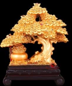 cây phát lộc phát tài mạ vàng 2