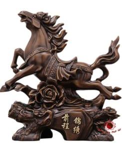 ngựa phong thủy gỗ 5