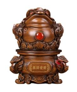 tượng cóc ngậm tiền gỗ 2