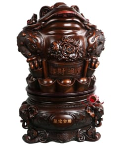 tượng cóc thiềm thừ ngậm tiền bằng gỗ 4