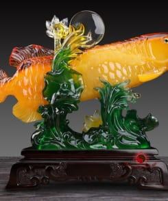tượng kim long phong thủy kim long phú quý 2