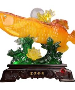 tượng kim long phong thủy kim long phú quý 3