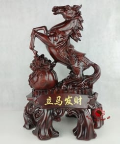 tượng ngựa phong thủy phát tài cao 61cm 4