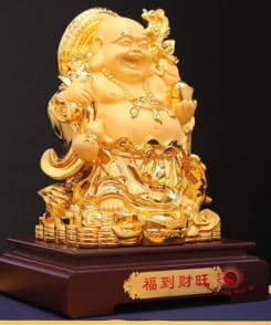 tượng phật di lặc cầm nén vàng 3
