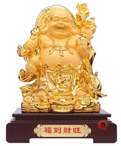 tượng phật di lặc cầm nén vàng 4
