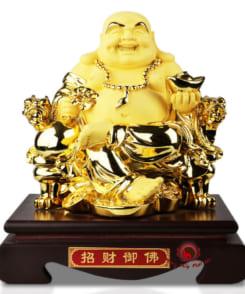 tượng phật di lặc cầm vàng 3