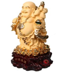 tượng phật di lặc cành đào vàng 3