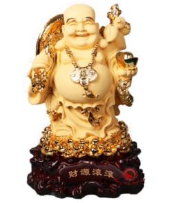 tượng phật di lặc cành đào vàng 4