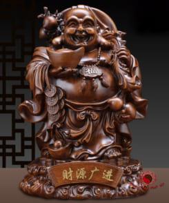 tượng phật di lặc chiêu tài gỗ 1