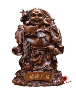 tượng phật di lặc chiêu tài gỗ 2