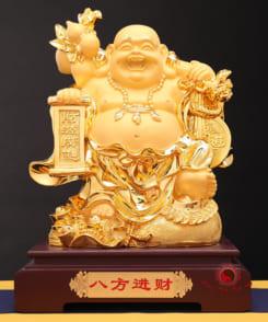 tượng phật di lặc phong thủy vàng 3