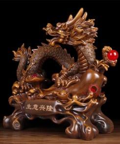 tượng rồng cầm ngọc phong thủy 3