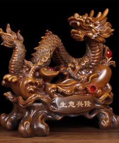 tượng rồng cầm ngọc phong thủy 4