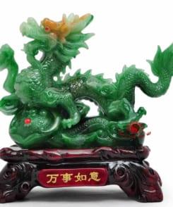 tượng rồng phong thủy màu xanh 2