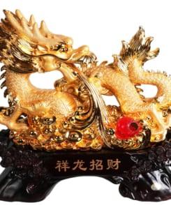 tượng rồng phong thủy rồng phun châu 4
