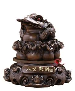 tượng thiềm thừ ngậm tiền gỗ 2