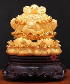 tượng thiềm thừ phong thủy vàng 2
