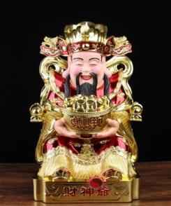 Tượng ông thần phát giả mạ vàng đẹp 7