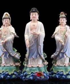 bộ tượng tây phương tam thánh đứng 4