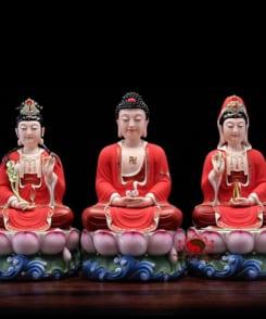 bộ tượng thờ tây phương tam thánh 4