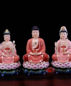 bộ tượng thờ tây phương tam thánh đẹp 2