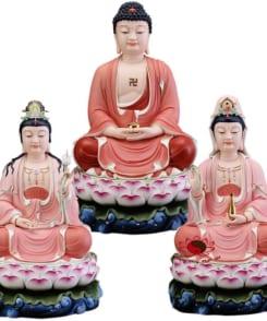 bộ tượng thờ tây phương tam thánh đẹp 3