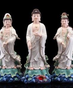 bộ tượng thờ tây phương tam thánh đứng 4
