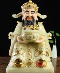 thần tiền màu vàng đá cẩm thạch khảm vàng 1
