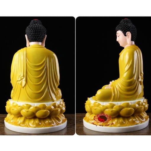 tôn tượng bổn sư thích ca mâu ni màu vàng 2