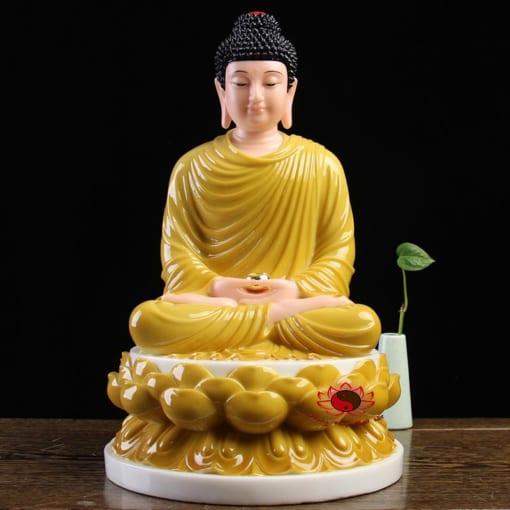 tôn tượng bổn sư thích ca mâu ni màu vàng 4