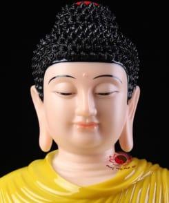 tôn tượng bổn sư thích ca mâu ni màu vàng 5