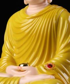 tôn tượng bổn sư thích ca mâu ni màu vàng 6
