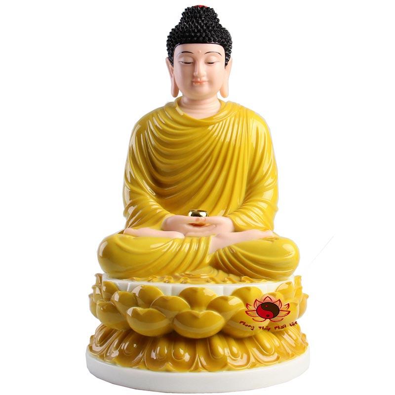 tôn tượng bổn sư thích ca mâu ni màu vàng 7