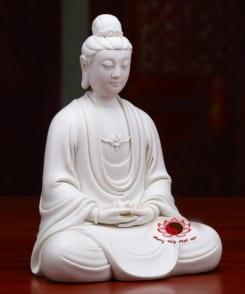tượng bồ tát đại thế chí bằng sứ trắng 3