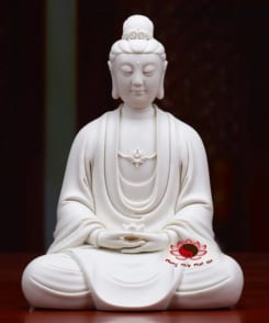 tượng bồ tát đại thế chí bằng sứ trắng 4