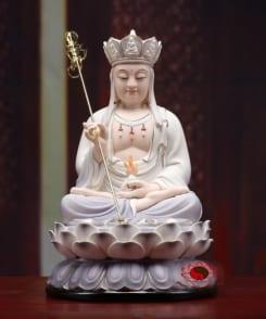 tượng bồ tát địa tạng vương ngồi màu tím 7