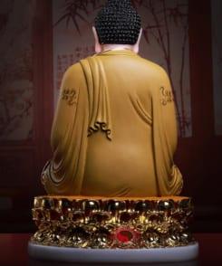 tượng bổn sư thích ca đẹp màu vàng 5