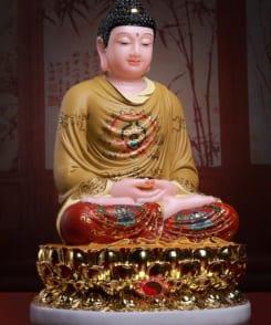 tượng bổn sư thích ca đẹp màu vàng 6