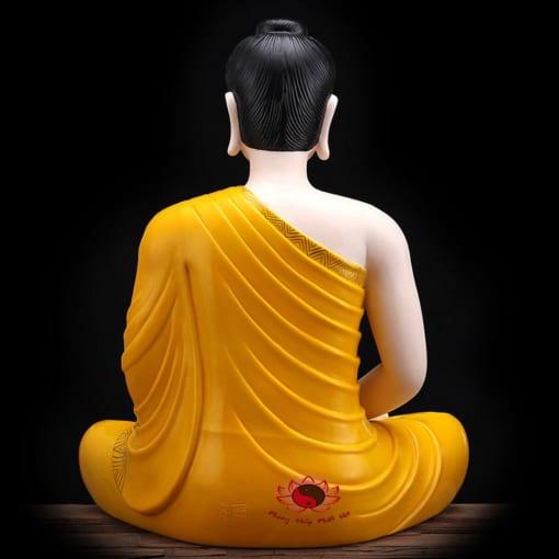 tượng bổn sư thích ca mâu ni màu vàng 1