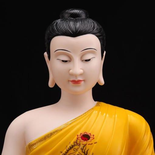 tượng bổn sư thích ca mâu ni màu vàng 3