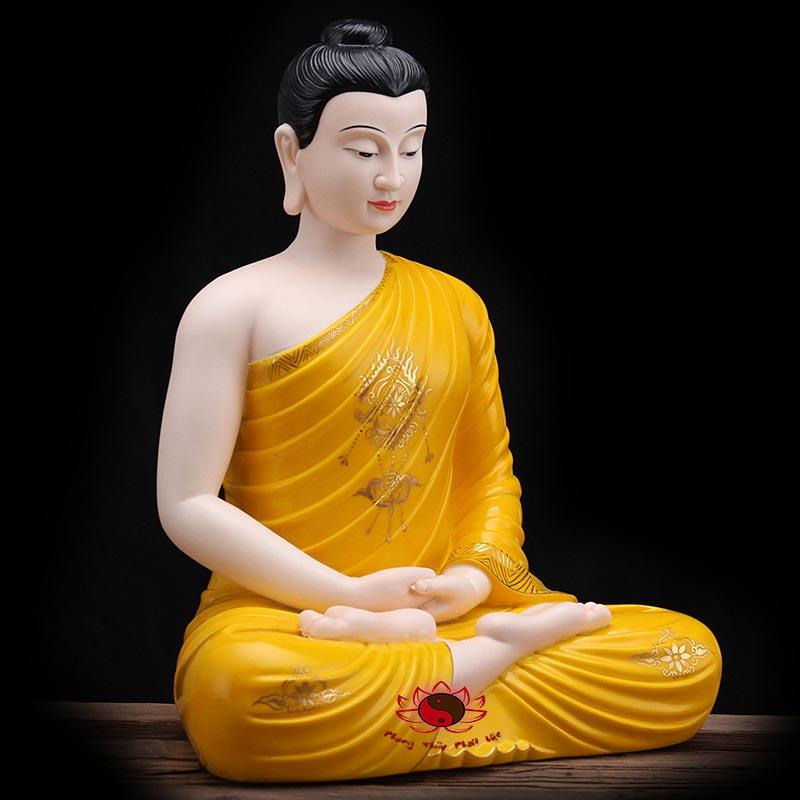 tượng bổn sư thích ca mâu ni màu vàng 4