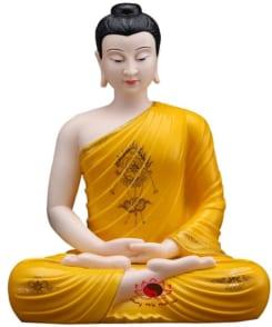 tượng bổn sư thích ca mâu ni màu vàng 5