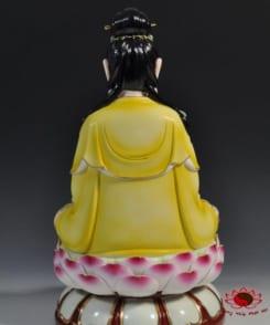tượng đại thế chí màu vàng ngồi tòa sen 5