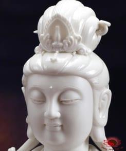 tượng đại thế chí sứ trắng ngồi tòa sen 6
