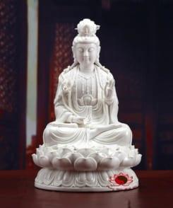 tượng đại thế chí sứ trắng ngồi tòa sen 7