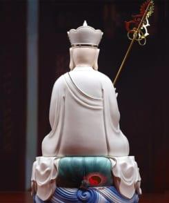 tượng địa tạng ngồi tòa sen gốm sứ cao cấp 4