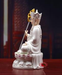 tượng địa tạng vương bồ tát màu trắng đẹp 3