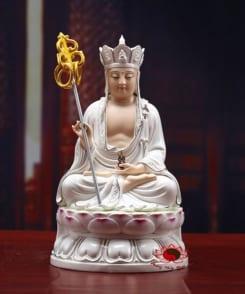 tượng địa tạng vương bồ tát màu trắng đẹp 4