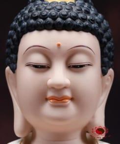 tượng đức a di đà ngồi tòa sen màu tím 4